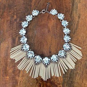 Jewelry - Fan Fringe  Crystal Bib Statement Necklace